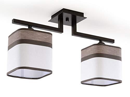 sollux Lighting Latte 2 lámpara de techo, acero, marrón, color blanco: Amazon.es: Iluminación