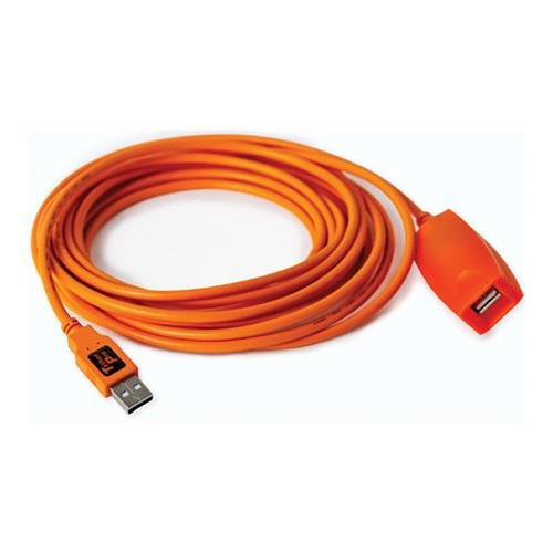 Tether Tools Pro 49' USB 2.0 Active Extension Cable, High-Visibility Orange by Tether Tools