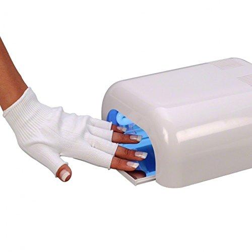 Guantes de protección anti-uv para instalación de uñas de gel uv: Amazon.es: Belleza