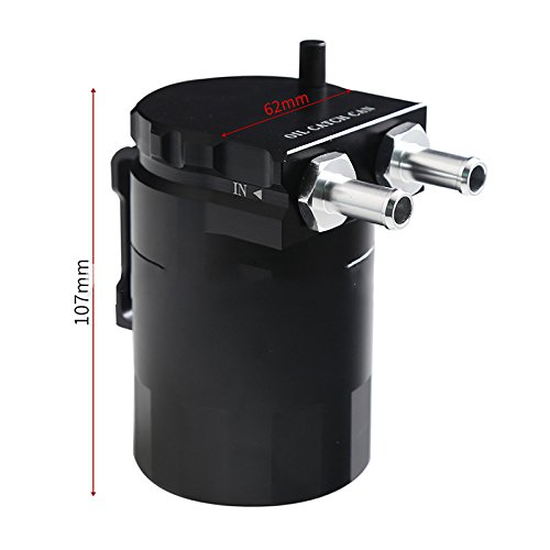 Vinmax Universal Cylinder Car Oil Catch Can Tank with Breather Aluminum Alloy 300ml