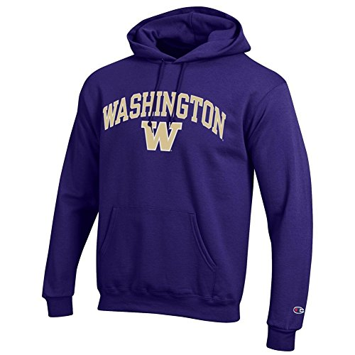 Elite Fan Shop Washington Huskies Hooded Sweatshirt Varsity Purple - L