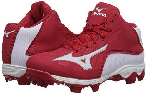 11948e80200 Mizuno 9 Spike ADV YTH FRHSE8 MD RD-WH Youth Molded Cleat (Little ...