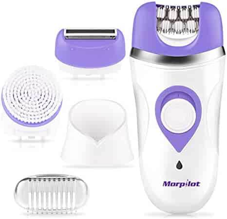 Women's Epilator, Morpilot 3-in-1 Electric Rechargeable Cordless Wet & Dry Hair Removal Shaver Facial Clean Brush FDA Approved