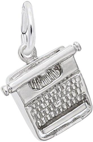 Rembrandt Typewriter Charm - Metal - Sterling Silver ()
