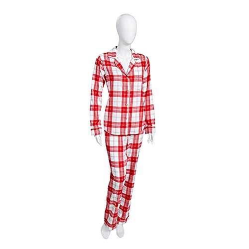 Ugg Women's Raven PJ Set Plaid Lipstick Red Pajama Set XS