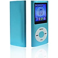 Lonve MP3 Player MP4 Player 16GB Portable Media Music Player with FM Radio Voice Recorder Supporting MP3 WMA WAV Blue