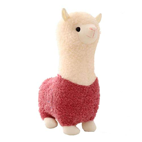 DREZZED New Kids Children Baby Girls Cotton Blend Plush Cute Small Alpaca Doll Toys Stuffed Animals & Teddy Bears Pink