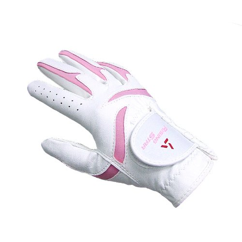 (Paragon Golf Girls Rising Star Right Hand Golf Glove, White/Pink - Medium)