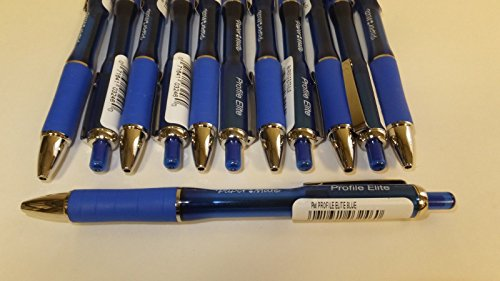 12 Lot Paper Mate Profile Elite Retractable Ballpoint Pens, Blue Ink, 1.4 Bold Point Photo #2