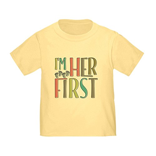 CafePress I'm Her First Cute Toddler T-Shirt, 100% Cotton Daffodil Yellow