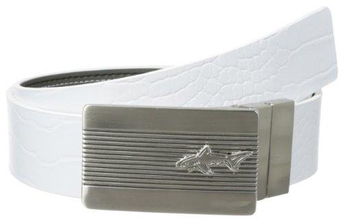 Greg Norman Men's Shark Revelation Belt, White/Charcoal, 38