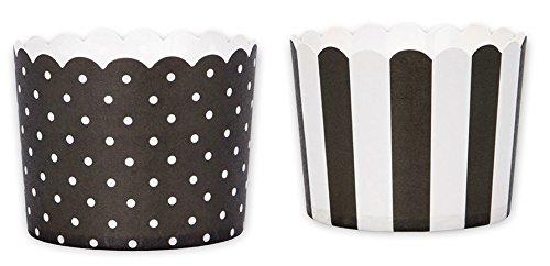 Städter ST337244 Cupcake Förmchen CUPCAKE BACKFORM MINI Set schwarz/weiß