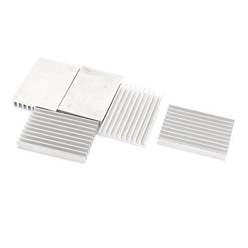 DealMux 5 piezas de aluminio del disipador de calor del chipset aleta de enfriamiento de 40 x 28 x 6 mm para el transistor de energí a DLM-B01LZ4Z6LY