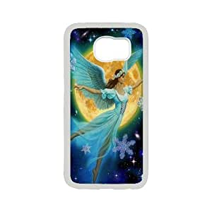 Elegent Angel,Angel Love Us Productive Back Phone Case For Samsung Galaxy S6 -Pattern-14