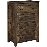 Ameriwood Home 5962215COM Farmington 4, 4 Drawer Dresser, Heritage PIne