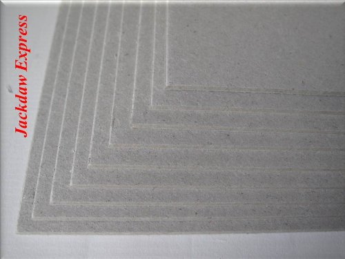 10 x A5 Greyboard Craft Card 2000mic 2mm Jackdaw Express