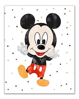 Disney Nursery Wall Decor - Set of four 8x10 Art Prints - Mickey Minnie Donald & Goofy Original Glossy Photos