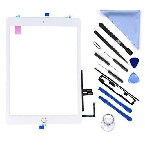 6 Button Lcd - White Digitizer Repair Kit for iPad 9.7