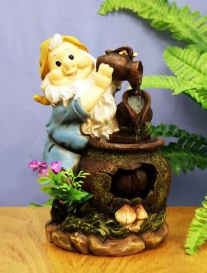 ELEGANT HOMES SET OF 2 GNOME WATER FEATURES