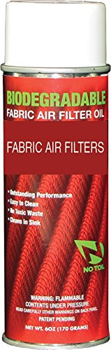 NO TOIL BIODEGRADABLE FABRIC AIR FILTER OIL 6OZ 90-0301