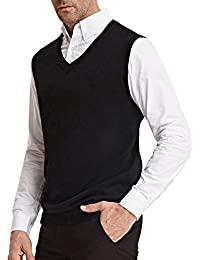 Men's Knitting Vest Stylish & Slim Fit Pullover Sleeveless V-Neck
