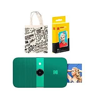 KODAK Smile Impresora Digital instantánea (Green) Kit de Bolso de ...