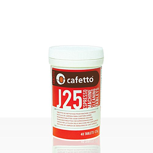 40 Jura Cleaning Tablets for Super Automatic Espresso Machines - by Cafetto - Model J25 for Descaling Jura and Krups Machines