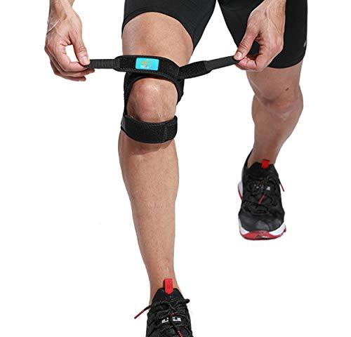 Strap Stabilizer (HiRui Knee Brace Knee Support Patella Strap Patella Stabilizer for Basketball/Soccer, Tennis/Volleyball, Running, Pain Relief.etc, Unisex, One Size Adjustable)