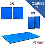 """Indoor Table Tennis Conversion Top with Net Set by Rally & Roar – 4 Piece Set, 1/2"""" - Quick Set Up, Portable Tops, Space Saving Storage, Regulation Tournament Size – Family and Friend Game Room Fun"""