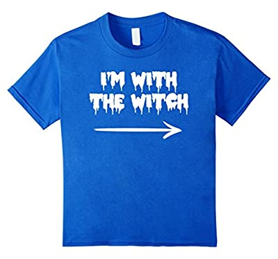 I'm With The Witch Funny Halloween T-Shirt