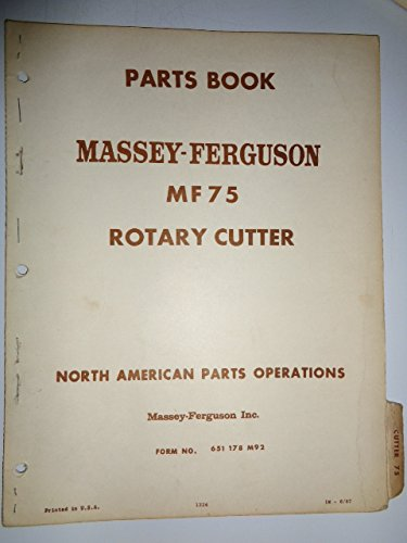 Massey Ferguson MF 75 Rotary Cutter Parts Catalog Book Manual Original 6/67