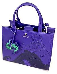Loungefly x Disney Little Mermaid Ursula Debossed Crossbody Bag with Eel Charm
