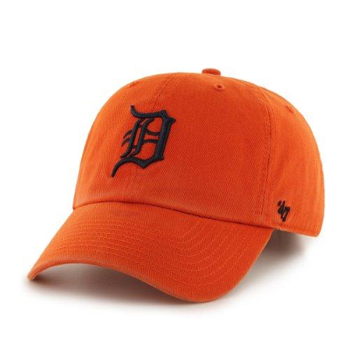 MLB Detroit Tigers Men's Clean Up Cap, Orange (Mlb Vintage Hats)