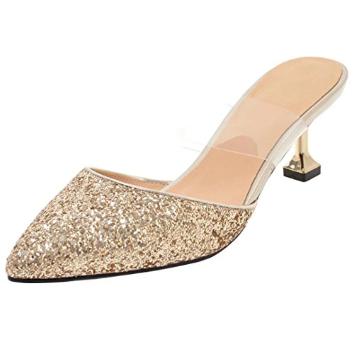 Caviglia Gold Aiyoumei Sulla Aperte Donna qnU6Z
