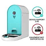 DOGNESS Automatic WiFi Dog/Cat Smart Camera Feeder - 6.5lbs Large Capacity App Control Food Dispenser with WiFi, Portion Control, Voice Recording,Timer Programmable - Tiffany Blue