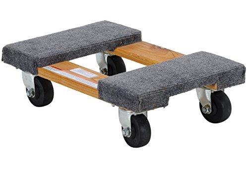 Vestil HDOC-1218-9 Carpet End Hardwood Dolly, 900 lb Capacity, 12