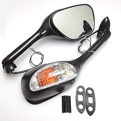 BEESCLOVER 2008 specchietti Laterali per Moto con indicatore di direzione per Suzuki GSXR 600 GSXR 750 2006-2010 K6 K7 K8 GSXR 1000 2005