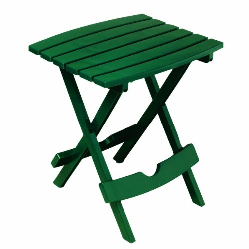 Adams Manufacturing 8500-16-3700 Plastic Quik-Fold Side Table, Hunter Green (Green Plastic Outdoor Chairs)