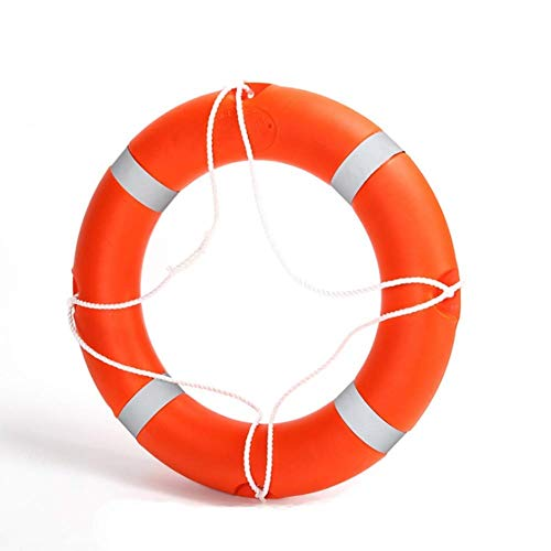 Marine Plastic Lifebuoy,Swimming Pool Swim Ring Buoy Thickened in Adult Professional Life-Saving Equipment