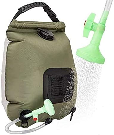 Solar Heated Shower Bag20L Outdoor Portable Shower Bathing Bag Traveling Camping