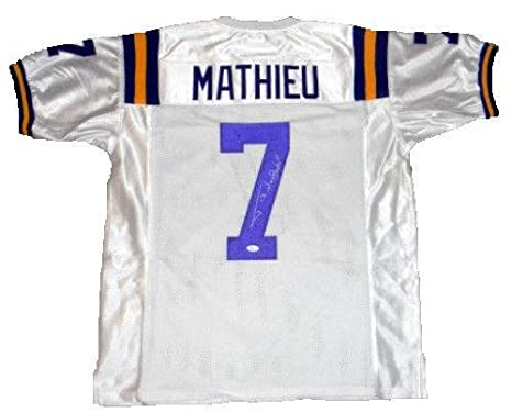 info for 83981 3fa79 Signed Tyrann Mathieu Jersey - #7 White W Honey Badger ...