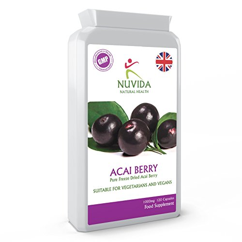 Acai Berry Capsules / 120 x 1000mg Double Strength Freeze Dried Acai...