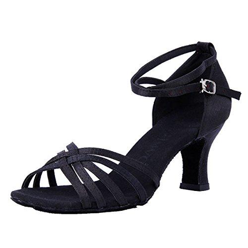 Sandali Della b Colori Latino Donne Ragazza Scarpe Med Dance Superiore Professionista Satin altri 36 Salsa Delle Ballroom Shoe fE0wqWZHWa