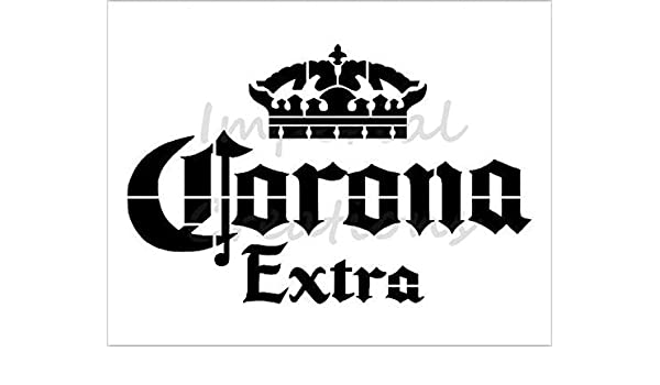 CORONA EXTRA Beer Alcohol Crown Logo 8.5 x 11 Stencil 20 Mil Plastic Sheet NEW S269