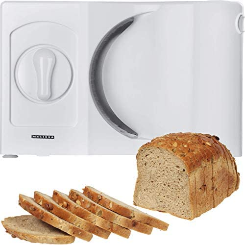 Melissa 16310186 Cortafiambres para zurdos welli filo Cuchillo plegable para cortar pan pan máquina Blanco: Amazon.es: Hogar