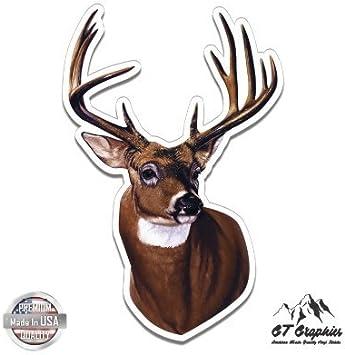Vinyl Die-Cut Peel N/' Stick Decal Whitetail Deer Hunting//Outdoor Sports