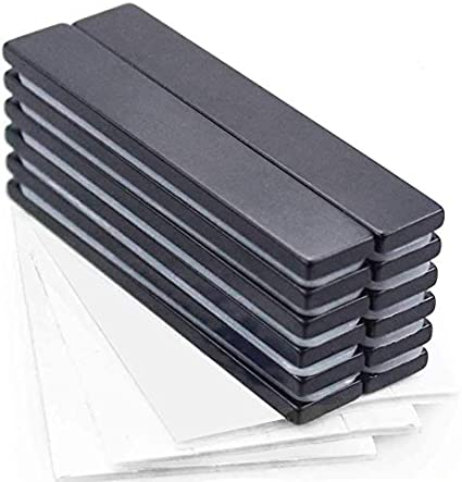 per Lavagna Magnetica Bianco e Nero Dimensioni 12 x 6 mm Mini magneti Adatti per LUfficio magneti al neodimio con Strato Protettivo Resistenti Magnetastico/®