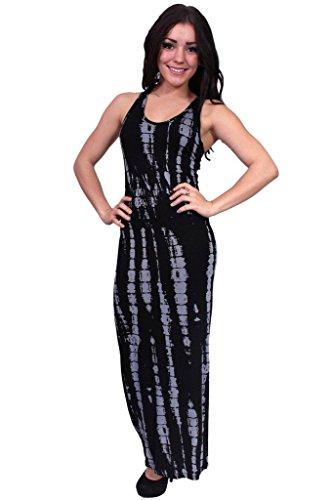 Buy black and grey tie dye dress - 1
