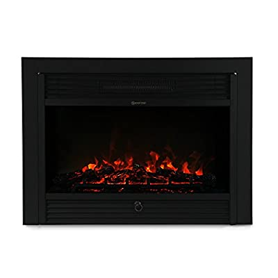XtremepowerUS 28.5 Inch 1500W 5200BTU Embedded Electric Fireplace Insert Heater with Remote Control