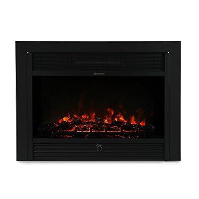 "XtremepowerUS 28.5"" 1500W 5200BTU Embedded Electric Fireplace Insert Heater W/Remote Control"